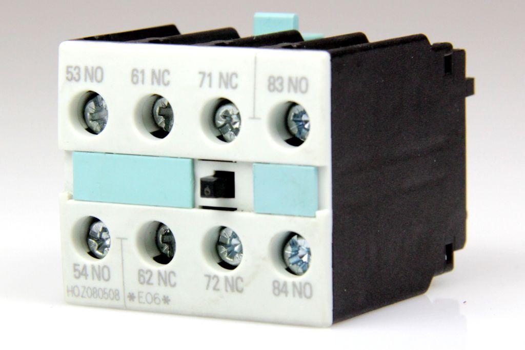 Siemens 3rh1921 1xa22 0ma0 hilfsschalterblock 4 polig for Nc elektrotechnik