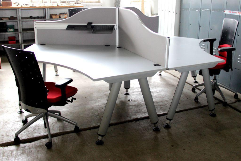 mbt trebbin schreibtisch arbeitsinsel tisch arbeitstisch arbeitsplatz 3er platz m bel b rom bel. Black Bedroom Furniture Sets. Home Design Ideas