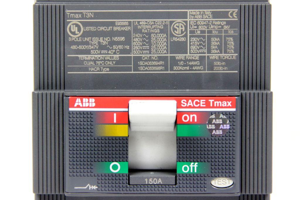 abb sace tmax t3n 150 amp leistungsschalter low voltage
