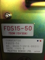 15V 50A Power Supply - Fujitsu Denso LTD. FDS15-50 750W – Bild 2