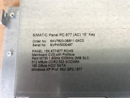 "Siemens Simatic PC677 Industrie Panel PC 15"" - 6AV7803-0BB11-0AC0 - 23/06/I5/11 – Bild 3"
