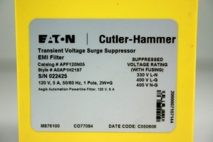 EATON - Transient Voltage Surge Suppressor - EMI-Filter - APF120N05 – Bild 2
